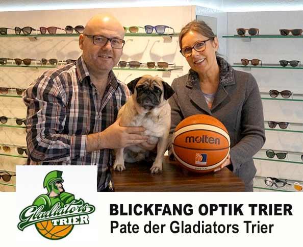 Pate Gladiators Trier Blickfang Optik Trier